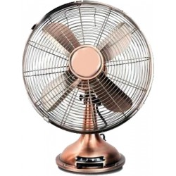 Adam DK-17 Bronze Metal Retro Table Fan 12'' | SimosViolaris