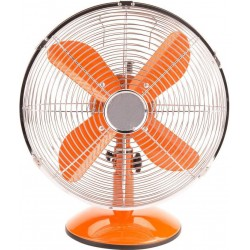 Adam DK-13C Orange Metal Retro Table Fan 12'' | SimosViolaris