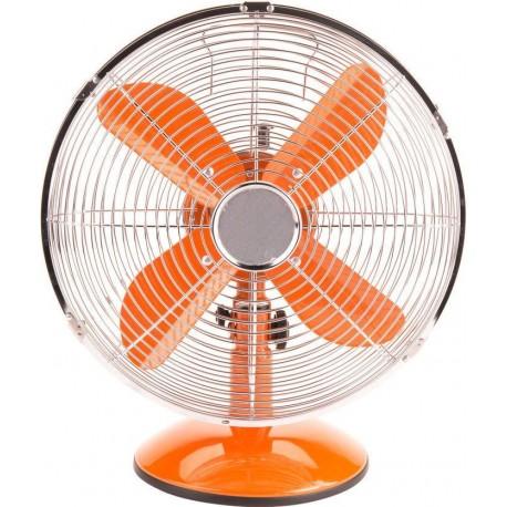 Adam DK-13C Orange Metal Retro Table Fan 12'' | SimosViolaris