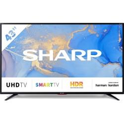 Sharp 4T-C43BJ5EF2NB 4K Led Smart TV 43'' | SimosViolaris