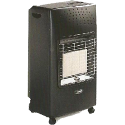 Bartolini Gas Heater 4200W in Black Color | SimosViolaris