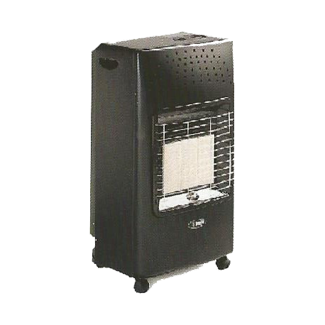 Bartolini BAT-395 Gas Heater 4200W in Black Color | SimosViolaris