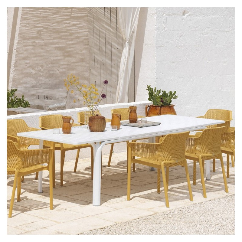 nardi alloro 210 extentable table garden furniture cyprus