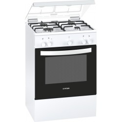 Pitsos PACB112K20 Gas Cooker with Grill 60cm 71L White | SimosViolaris