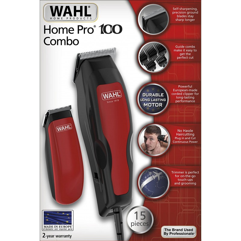 Set Of Hair And Beard Trimmer Wahl Home Pro 100 Combo