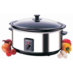 Morphy Richards 48715 Oval Stainless Steel Slow Cooker | SimosViolaris