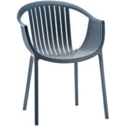 PP Chair Charcoal  - Garden Furniture | SimosViolaris