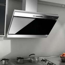 Airtech Armando90 Decorative CookerHood in Black Glass | SimosViolaris