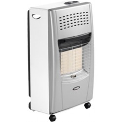 Bartolini Bella-SW Gas Heater in Silver White Color | SimosViolaris