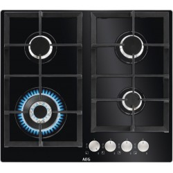 Aeg HKB64440NB Gas Hobs on Tempered Glass | SimosViolaris